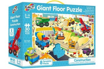 Galt Toys, Giant Floor Puzzle - Construction Site, Toddler Puzzles, Ages 3+