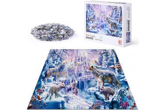 (Wolf Castle) - Jigsaw Puzzle for Adults 1000 Pieces, ACSTEP Wolf Castle Adult Jigsaw Puzzles Educational Games Intense Colours and High Definition Printing – Ideal for Relaxation, Meditation, Hobby