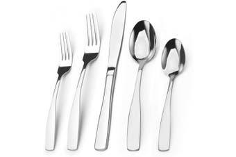 (20-piece, Silver) - Silverware Set, Bysta 20-Piece Stainless Steel Flatware Set, Kitchen Utensil Set Service for 4, Tableware Cutlery Set for Home and Restaurant, Mirror Finish, Dishwasher Safe