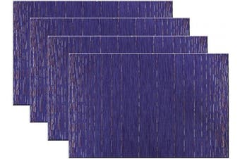 (Set of 4, B: Purple) - pigchcy Placemats Modern Design Kitchen Placemat Washable Heat-Insulation Table Mat PVC Placemats for Dining Table Set of 4 (Mix Purple)