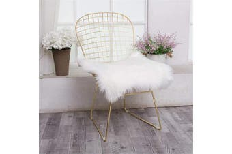 (Square, White) - Jinzio Faux Sheepskin Chair Pad Squre Cover Seat Cushion Pad Soft Fluffy Area Rug for Chair Seat Pad Couch Pad Dresser Pad Shopwindow Carpet Area Natural Rugs, 46cm x 46cm , White