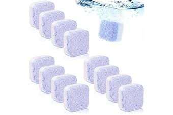 12 Pieces Lavender Solid Washing Machine Freshener Cleaner Effervescent Tablet Washer Deep Cleaning Triple Decontamination Remover for Bath Room Kitchen