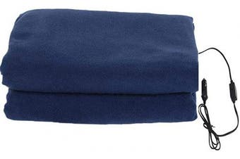 (Navy) - Homeself Electric Car Heating Blanket, 12 Volt Fleece Constant Temperature Anti-Overheat Blanket for SUV Vehicle Truck Boats RV, Winter Cold Weather Travel Camping Use (Navy)