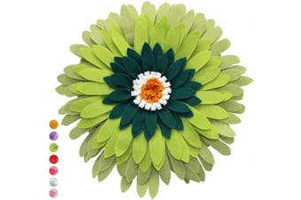 (Case + Insert, Lime) - Contempo Lifestyles, Flower Throw Pillow   3D Flower Pillow   Daisy Flower Pillow  Light Weight   Decorative Pillow   Hand-Made décor   Multiple Colours (Lime)