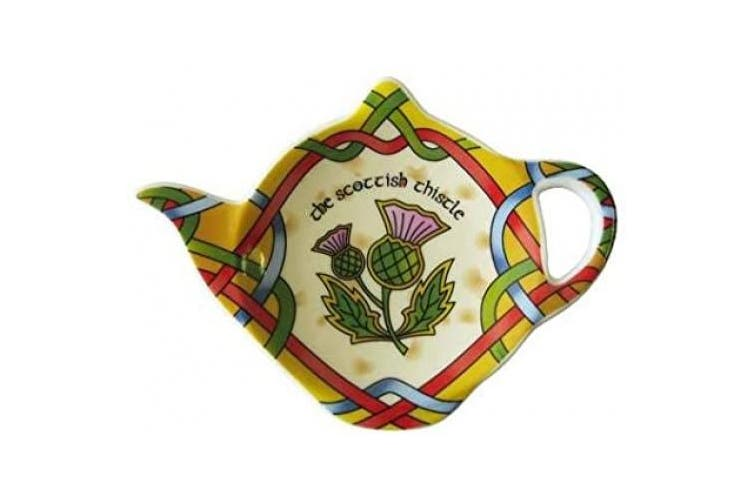 Royal Tara Scottish Teabag Holder with Scottland Thistle Inspired by Celtic manuscripts Width -15cm
