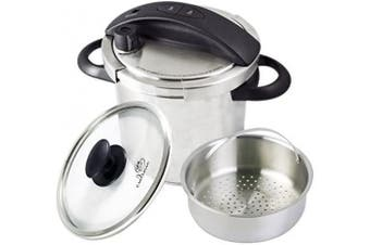 Culina One-Touch Pressure Cooker. Stovetop, 5.7l. Stainless Steel With Steamer Basket