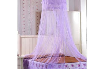 (Purple) - Dome Mosquito Net, Polyester Princess Bed Canopy, Lace Bed Canopy Mosquito Net, for Baby Cot, Double Bed, Vacation (60 * 260 * 900 cm) (Purple)