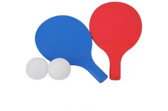 Alomejor Kids Table Tennis Bat Children Table Tennis Paddles with 2 Ping Pong Balls and Portable Ping Pong Bats for Child Kids Table Tennis Practise Training