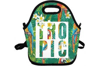 (Tropic) - Portable Insulated Lunch Bags for Women Men Kids Girls, Tropic Soft Neoprene Lunch Tote Bag, Lightweight Reusable Lunch Box for Work/Office/School/Outdoor/Travel/Picnic and Mom bag