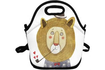 (Dumb Lion) - Portable Insulated Lunch Bags for Women Men Kids Girls, Dumb Lion Soft Neoprene Lunch Tote Bag, Lightweight Reusable Lunch Box for Work/Office/School/Outdoor/Travel/Picnic and Mom bag