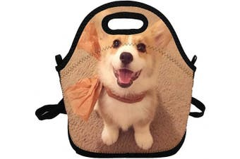 (Lovely Dog) - Portable Insulated Lunch Bags for Women Men Kids Girls, Lovely Dog Soft Neoprene Lunch Tote Bag, Lightweight Reusable Lunch Box for Work/Office/School/Outdoor/Travel/Picnic and Mom bag