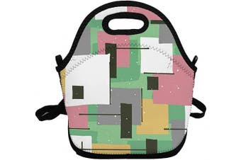 (Fashion Graffiti) - Portable Insulated Lunch Bags for Women Men Kids Girls, Fashion Graffiti Soft Neoprene Lunch Tote Bag, Lightweight Reusable Lunch Box for Work/Office/School/Outdoor/Travel/Picnic and Mom bag