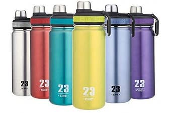 (Green) - CILLE Water Bottle 710ml Hot Water Bottle Stainless Steel BPA Free Insulated Water Bottle for Cycling Vacuum Cold Water Bottle with Double Wall Wide Mouth Thermos Metal Water Bottles (Green)