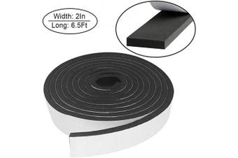 (2In x 3/8In x 6.5Ft, Black) - Foam Insulation Tape Self Adhesive,Weather Stripping for Doors and Windows,Sound Proof Soundproofing Door Seal,Weatherstrip,Cooling,Air Conditioning Seal Strip (5.1cm x 1cm x 2m, Black)