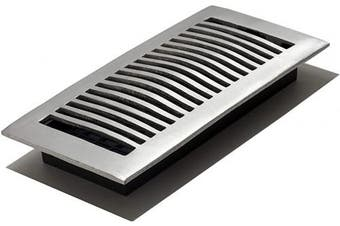 (4x10 Inch) - Decor Grates LA410-NKL 10cm by 25cm Aluminium Floor Register, Nickel