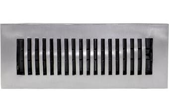 (3x10 Inch) - Decor Grates LA310-NKL 7.6cm by 25cm Aluminium Floor Register, Nickel