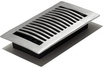 (4x8 Inch) - Decor Grates LA408-NKL Floor Register, 10cm by 20cm , Nickel