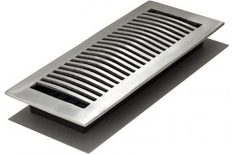 (4x12 Inch) - Decor Grates LA412-NKL 10cm by 30cm Aluminium Floor Register, Nickel