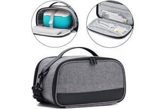 (Gray) - BGD-DG Carrying Case with Double Layer Compatible with Cricut Joy Machine, Cricut Joy Starter Tool Set, Fine Point Pen and Other Supplies, Compact and Portable, Grey (Bag Only)