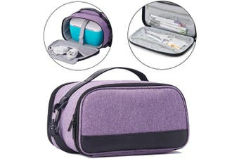 (Light Purple) - BGD-DG Carrying Case with Double Layer Compatible with Cricut Joy Machine, Cricut Joy Starter Tool Set, Fine Point Pen and Other Supplies, Compact and Portable, Light Purple (Bag Only)