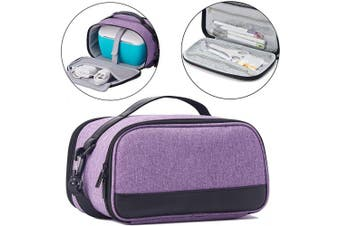 (Dark Purple) - BGD-DG Carrying Case with Double Layer Compatible with Cricut Joy Machine, Cricut Joy Starter Tool Set, Fine Point Pen and Other Supplies, Compact and Portable, Dark Purple (Bag Only)