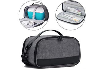 (Dark Gray) - BGD-DG Carrying Case with Double Layer Compatible with Cricut Joy Machine, Cricut Joy Starter Tool Set, Fine Point Pen and Other Supplies, Compact and Portable, Dark Grey (Bag Only)