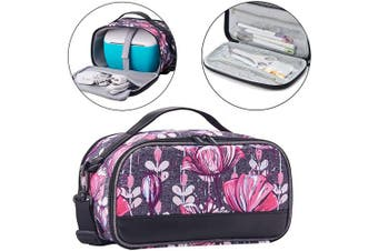 (Purple Flower) - BGD-DG Carrying Case with Double Layer Compatible with Cricut Joy Machine, Cricut Joy Starter Tool Set, Fine Point Pen and Other Supplies, Compact and Portable, Purple Flower (Bag Only)