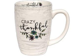 (Crazy Thankful) - Brownlow Gifts Simple Inspirations Ceramic Coffee Mug, Crazy Thankful
