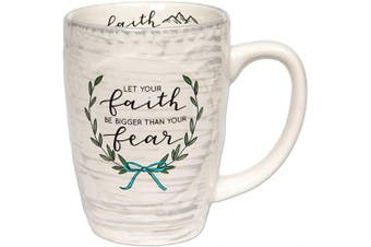 (Be Bigger Than Your Fear) - Brownlow Gifts Simple Inspirations Ceramic Coffee Mug, Be Bigger Than Your Fear