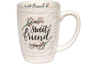 (Sweet Friend) - Brownlow Gifts Simple Inspirations Ceramic Coffee Mug, Sweet Friend