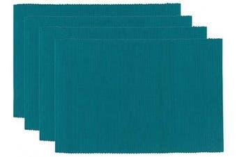 (Peacock) - Now Designs Spectrum Basic Cotton Placemats, Set of Four, Peacock