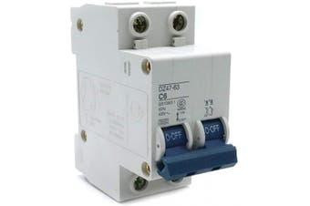 (6A) - Yohii Miniature Circuit Breaker Din Rail 2 Poles 6A 400V Mount DZ47-63 C6