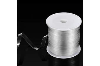 (33 Yards x 0.2cm ) - BBTO Clear Elastic Strap Lightweight Elastic Clear Bra Strap for Cloth Sewing Project (33 Yards x 0.2cm )