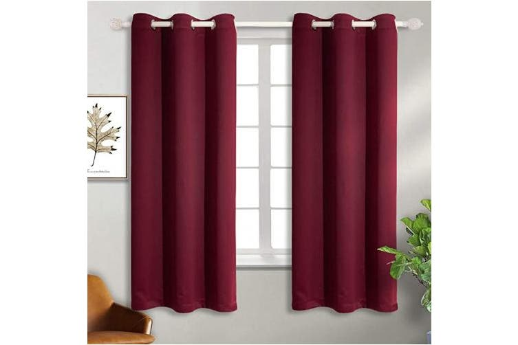42w X 63l Burgundy Red Bgment Burgundy Blackout Curtains For Bedroom Grommet Thermal Insulated Room Darkening Curtains For Living Room Set Of 2 Panels 110cm X 160cm Dark Red Matt Blatt