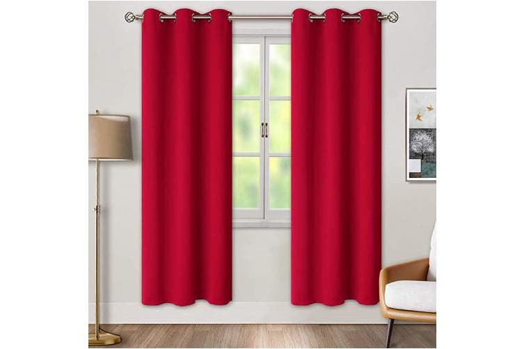 42w X 84l Red Bgment Blackout Curtains For Bedroom Grommet Thermal Insulated Room Darkening Curtains For Living Room Set Of 2 Panels 110cm X 210cm Red Matt Blatt