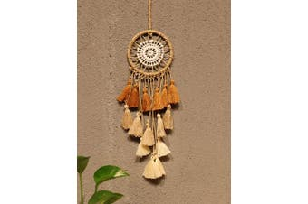 (Brown) - Artilady Small Dream Catcher for Cars - Bohemian Mini Dream Catchers for Cars Rear View Mirror Hanging Decoration (Brown)