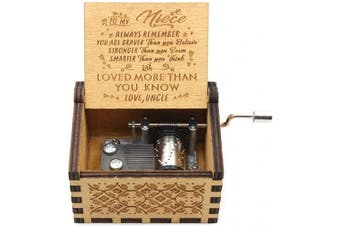 You are My Sunshine Music Box - Laser Engraved Music Box - Gifts from Uncle to Niece