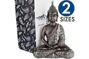 (26cm  - Large) - 25DOL Buddha Statues for Home. 26cm Buddha Statue (The Final Meditation). Collectibles and Figurines, Meditation Decor, Spiritual Living Room Decor, Yoga Zen Decor, Hindu and East Asian Décor