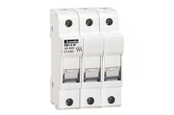 ASI AFB01G3P DIN Rail Mounted Class CC Fuse Holder, UL, CSA, 3 Pole, 18 to 8 AWG, 30 Amp, 600V