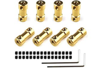 8 Pcs Shaft Coupler 3mm x 3mm Connector Adapter for RC Boat Motor