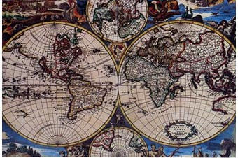 Map of The World 1000 Large Piece Jigsaw Puzzle for Kids Adults - 70 x 50cm Size