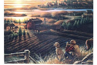 Sunset at The Farm 1000 Large Piece Jigsaw Puzzle for Kids Adults - 70 x 50cm Size
