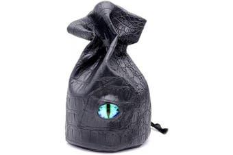 (Standing Bag-blue Eye) - Haxtec Standing Dragon Eye Dice Bag-Blue L