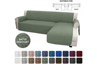 (Large, Greyish Green/Greyish Green) - Easy-Going Sofa Slipcover L Shape Sofa Cover Sectional Couch Cover Chaise Lounge Slip Cover Reversible Sofa Cover Furniture Protector Cover for Pets Kids Dog Cat(Large,Greyish Green/Greyish Green)