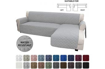 (X-Large, Light Gray/Light Gray) - Easy-Going Sofa Slipcover L Shape Sofa Cover Sectional Couch Cover Chaise Lounge Cover Reversible Sofa Cover Furniture Protector Cover for Pets Kids Children Dog Cat (X-Large, Light Grey/Light Grey)