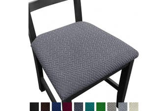 (4, Gray) - NORTHERN BROTHERS Seat Covers for Dining Room Chair Seat Covers (Grey, 4)