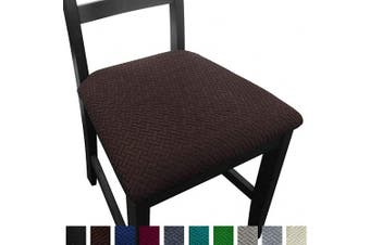 (4, Coffee) - NORTHERN BROTHERS Seat Covers for Dining Room Chair Seat Covers (Coffee, 4)