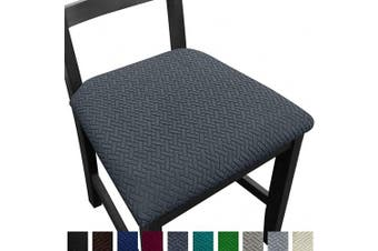 (4, Dark Gray) - NORTHERN BROTHERS Seat Covers for Dining Room Chair Seat Covers (Dark Grey, 4)