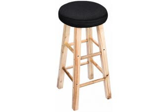 """(12""""(30cm), Black) - 12"""" Round Bar Stool Cove, Full Edges Covering Stool Cushion, with 2cm Padding, Proctect or Make Your Stools Chairs, Black"""
