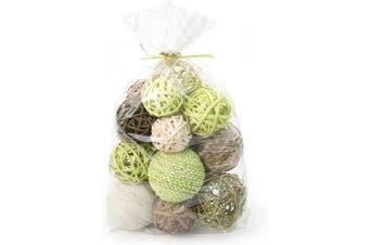 (Bamboo Green) - ANDALUCA Decorative Vase Filler Bag with Orbs, Balls (Bamboo Green)